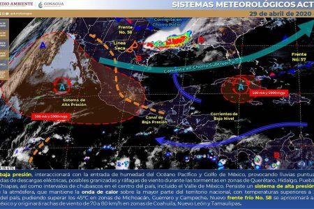 Vaguada térmica propiciará lluvias en gran parte Yucatán
