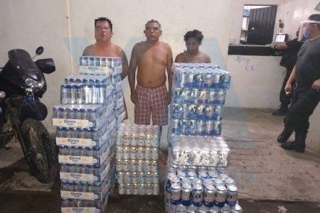 Tres detenidos en Kanasín por compraventa ilegal de cerveza