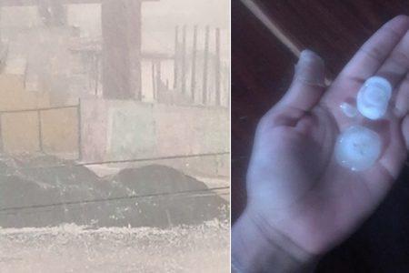 Lluvia y hasta granizo en varios municipios de Yucatán