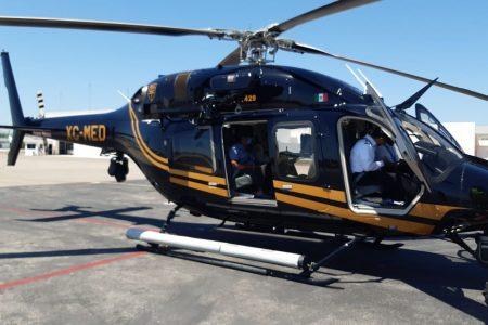 Con apoyo del helicóptero de la SSP buscan a pescadores de Sisal extraviados