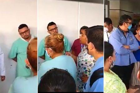 Protestan empleados del hospital Juárez del IMSS por falta de insumos ante Covid-19