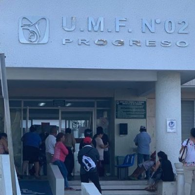 Susto en clínica del IMSS de Progreso por llegada de gente con traje especial