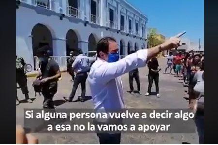 Alcalde yucateco regaña a ciudadanos que fueron a pedir apoyo por el Covid-19