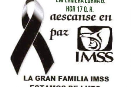 Fallece por Covid-19 enfermera del IMSS de Cancún, originaria de Yucatán