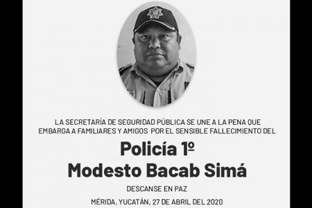 Obituario: policía primero Modesto Bacab Simá