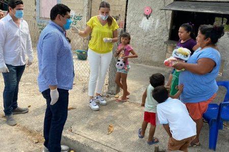 Pañuelos rojos de necesidad, pero también de solidaridad y generosidad