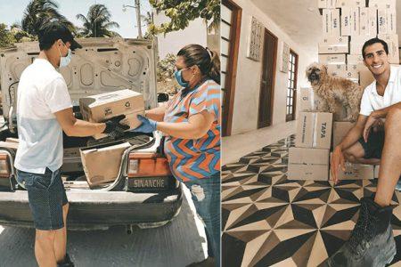 Rommel Pacheco entrega despensas en San Crisanto: reta a personalidades a sumarse