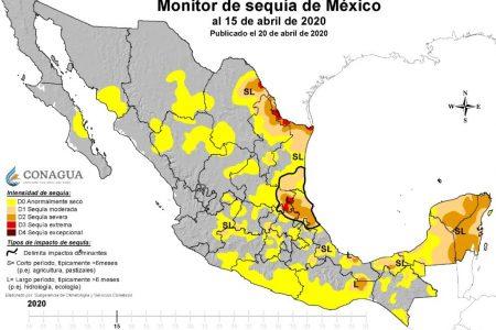 Sequía cubre más del 80 por ciento de la Península de Yucatán
