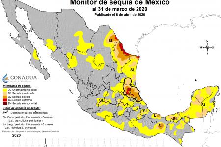 Sequía moderada afecta al 30 por ciento de la Península de Yucatán