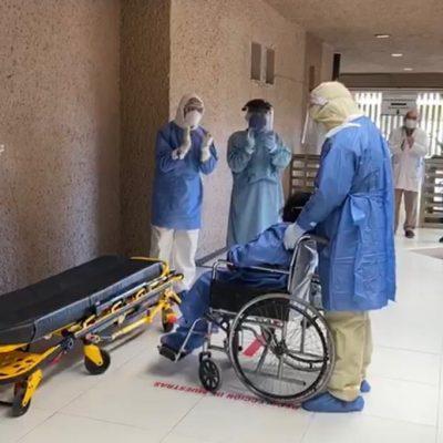 Dan de alta de la UMAE del IMSS a paciente que volvió a la vida tras el Covid-19
