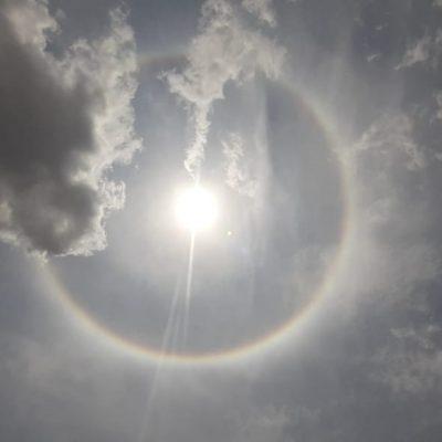 El halo solar, buen presagio para Mérida: anuncio de que las lluvias están cerca