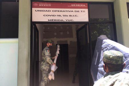 Habilitan hospitales para atender Covid-19 en sedes militares de Yucatán