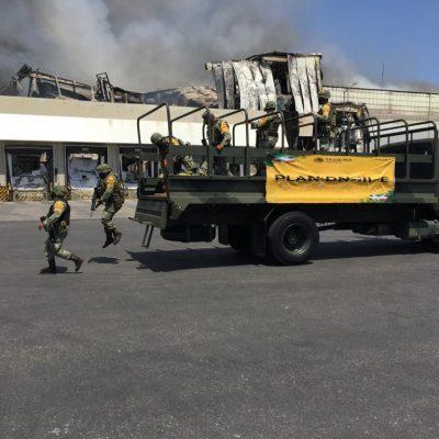 Hasta el Ejército tuvo que intervenir en el incendio de Kekén en Sahé