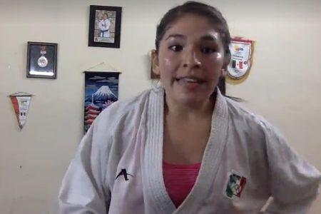 Lupita Quintal, con dojo lleno en su primer entrenamiento virtual
