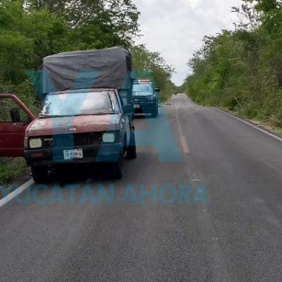 Conductor de 64 años logra controlar su camioneta tras perder una llanta