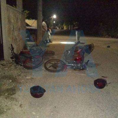 Choque de motos: un 'huido' y un lesionado