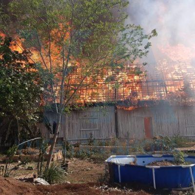 Se quema el parque ecológico Hunab, de la activista Maritza Morales