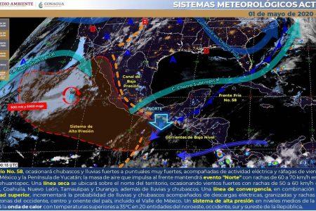 Esperan tormentas y hasta granizo en la Península, pero en Yucatán solo chubascos
