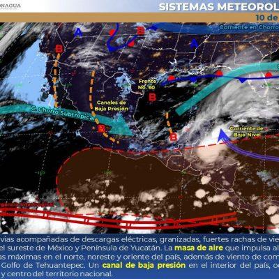 Seguirán las lluvias: Conagua pronostica tormentas fuertes en Yucatán