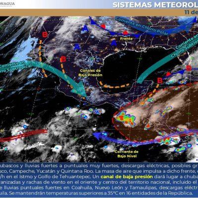 Pronostican lunes con lluvias en el norte, oriente y sur de Yucatán
