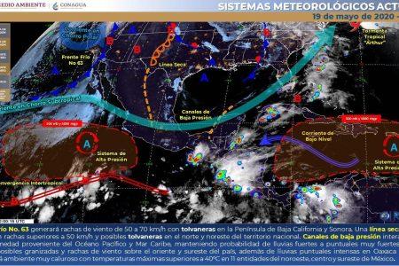 Conagua pronostica tormentas por la tarde y noche en Yucatán