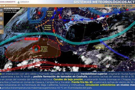 Ahora sí lloverá, dice la Conagua: hay un canal de bajas presiones en Yucatán