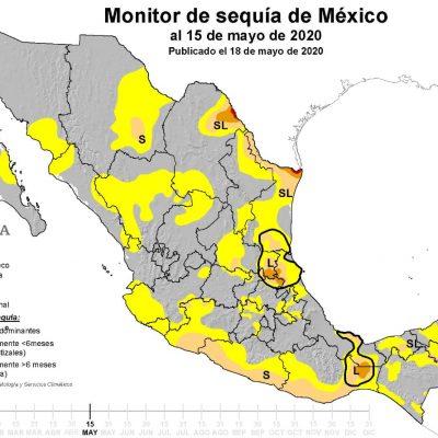 Retrocede en 50% sequía en la Península de Yucatán
