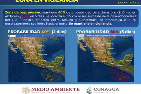 Baja presión, sin efectos para Yucatán, pero una onda tropical propiciará lluvias