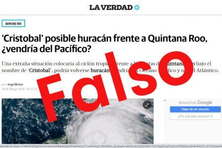 Reiteramos: Cristóbal, sin afectación para Yucatán; falso que haya un ciclón cerca