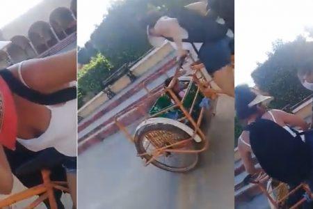 Policía de Sacalum maltrata a mujer golpeada por la vida y un violento ex marido
