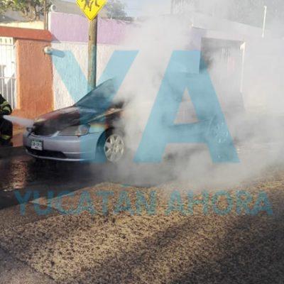 Se incendia su auto por un cortocircuito