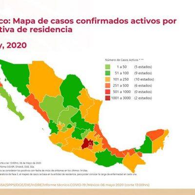 Yucatán, tercer lugar nacional en casos activos de Covid-19