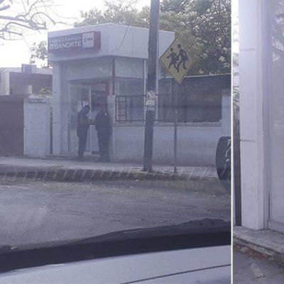 Destroza un cajero automático por encontrarlo fuera de servicio