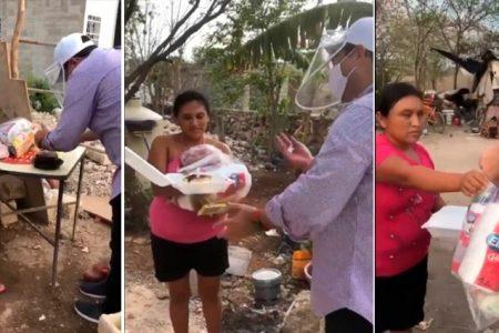 Por el Covid-19, comparte su comida de cumpleaños con los más necesitados