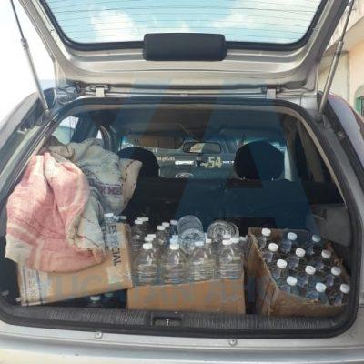Detenidos con cargamento de alcohol para preparar 'trago' clandestino