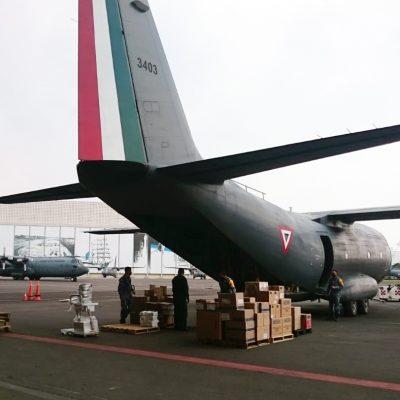 El Ejército traslada a Yucatán insumos y equipo médico para hospitales