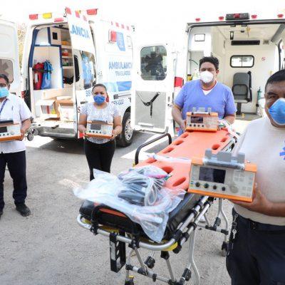 Rumbo al pico del Covid-19: equipan ambulancias con ventiladores