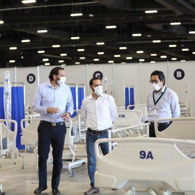 El Centro de Convenciones Siglo XXI, listo para funcionar como hospital Covid-19