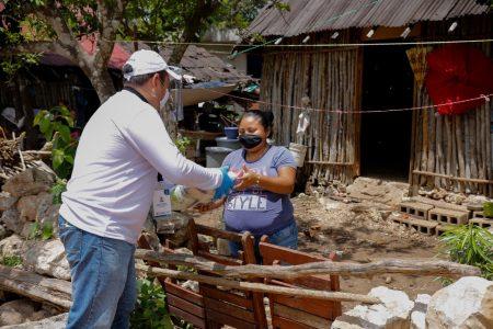 Familias vulnerables reciben por tercera ocasión el Apoyo Alimentario por el Covid-19