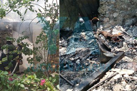 Pierde parte de su casa al incendiarse de la nada, en Kanasín