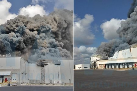 Incendio en la planta de Kekén en Sahé
