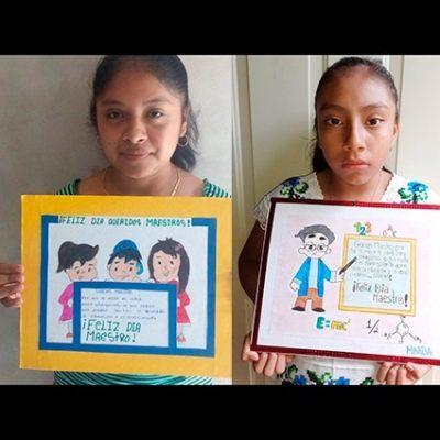 Alumnos de secundaria rural sorprenden a su profesor con emotivos dibujos