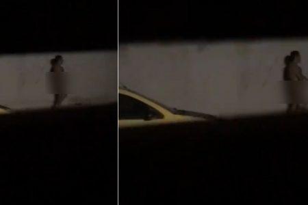 Captan a sujeto desnudo recorriendo las calles de Jardines de Lindavista