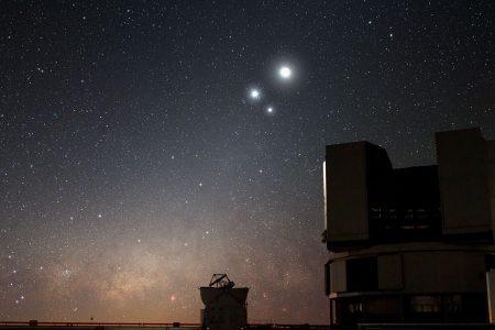 Otro espectáculo celestial: encuentros cercanos de la Luna con Júpiter, Saturno y marte