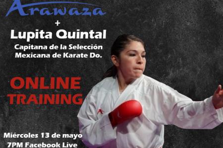 La karateca yucateca Lupita Quintal ofrecerá hoy un entrenamiento en línea