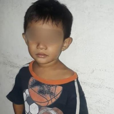 Encuentran a niño de tres años caminando solo en Villas de Oriente Kanasín