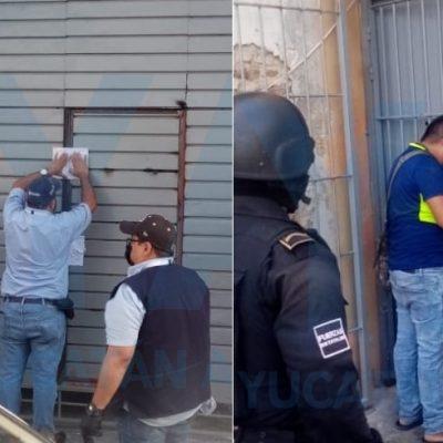 Clausuran estacionamiento del centro de Mérida convertido en hotel de paso