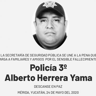 Fallece policía de la SSP asignado al sector oriente de Mérida