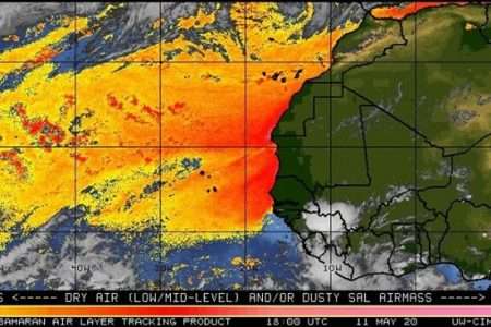 En camino a Yucatán el polvo del Sahara: debe llegar en las próximas semanas