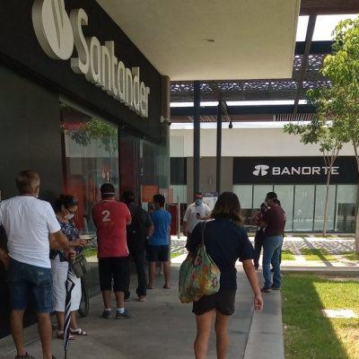 Otra aglomeración en Ciudad Caucel: ahora en un banco de Gran Santa Fe